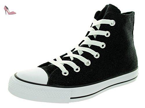Women's Converse Chuck Taylor All Star Sparkle Knit High Top Sneaker, Size  M - Black
