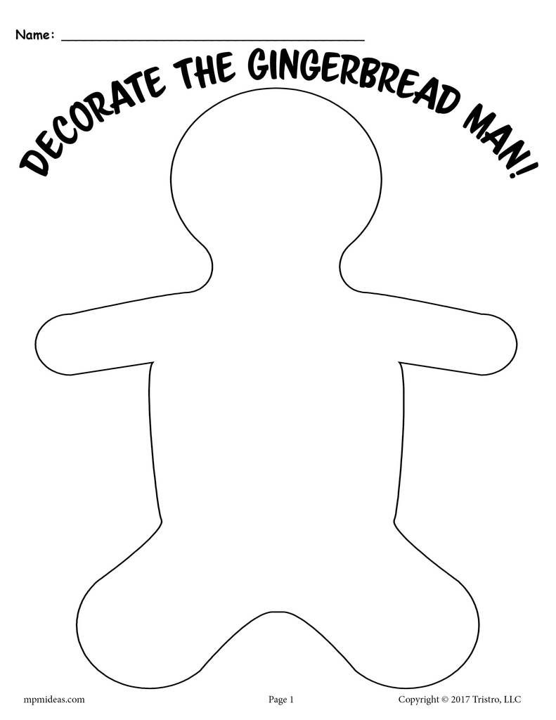 3 Printable Gingerbread Man Activities Gingerbread Man Activities Gingerbread Man Gingerbread Man Template [ 1024 x 791 Pixel ]