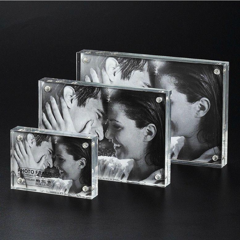 4x6 inch Customize transparent acrylic photo frame photo frame glass ...