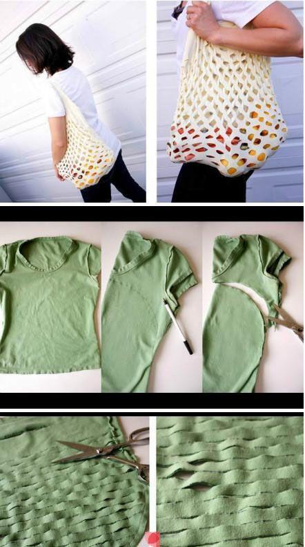 Bolso Un Una De Camiseta Customizado ViejaManualidades N0kOPX8nw