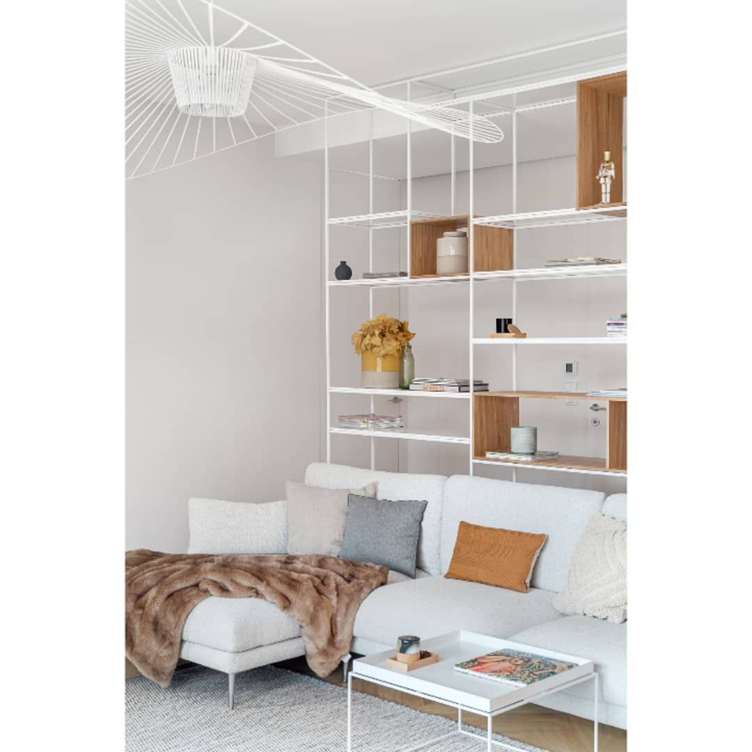 Hallway furniture from poland  book shelf as a partition wall in our latest project photographed by