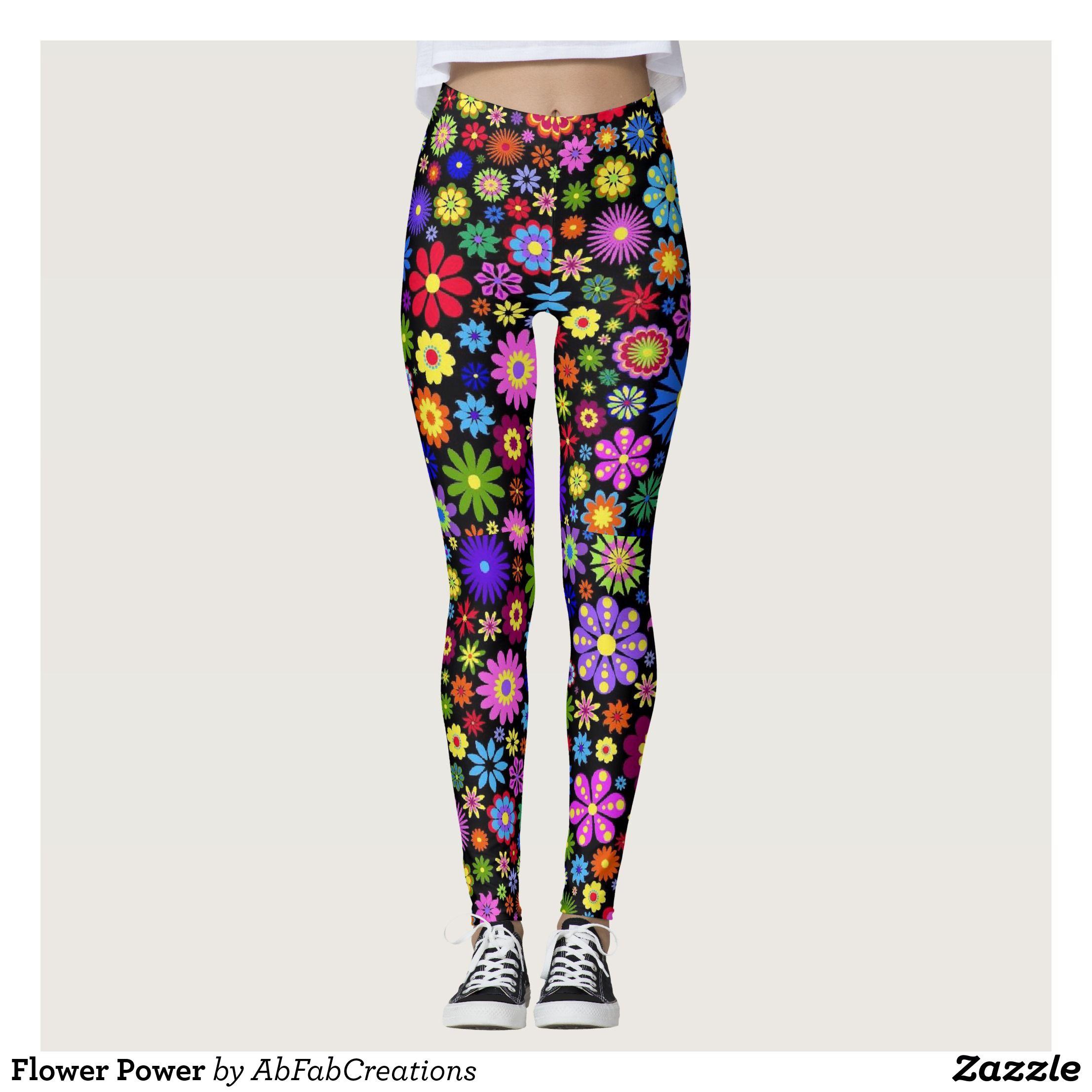 Flower power leggings beautiful yoga pants exercise