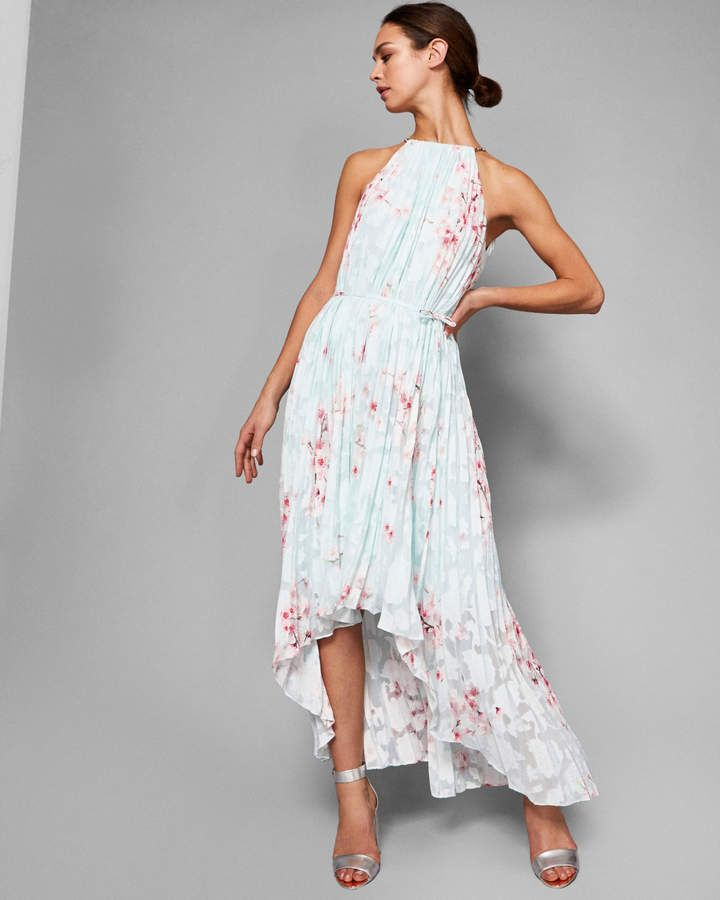 405606dfe450 Ted Baker Soft Blossom pleated maxi dress | Products | Look bohemio ...