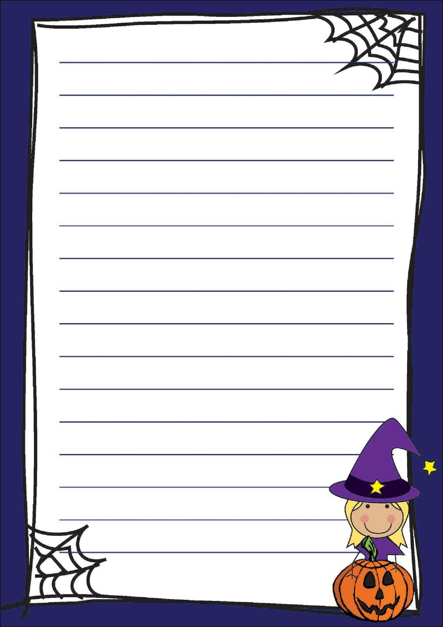 Lined Paper for Kids for Writing Fancy Stuff – School Writing Paper Template