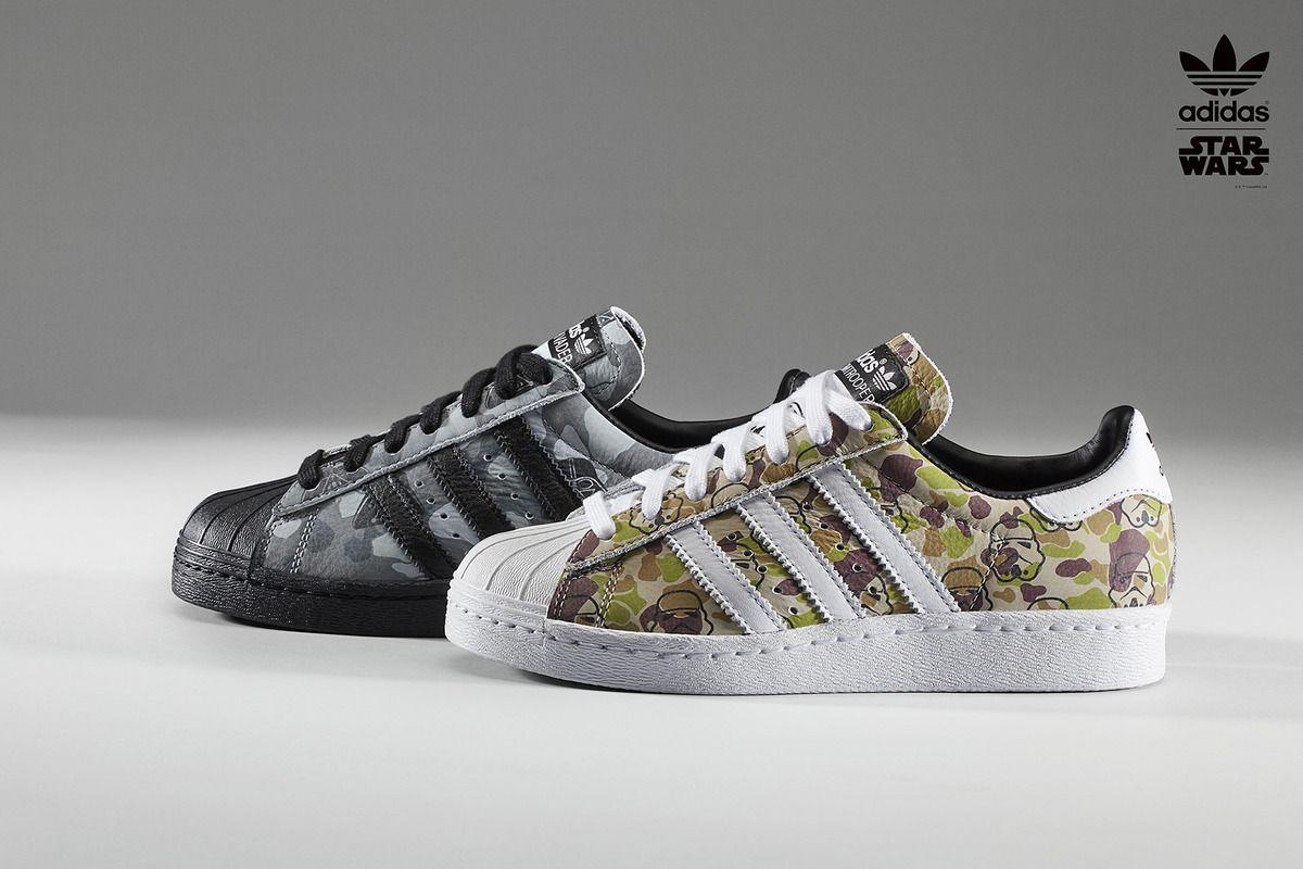 Estadio fondo Mamut  May the feet be with you: Adidas unveils custom Star Wars sneaker | Adidas  originals superstar, Adidas sneakers, Adidas superstar