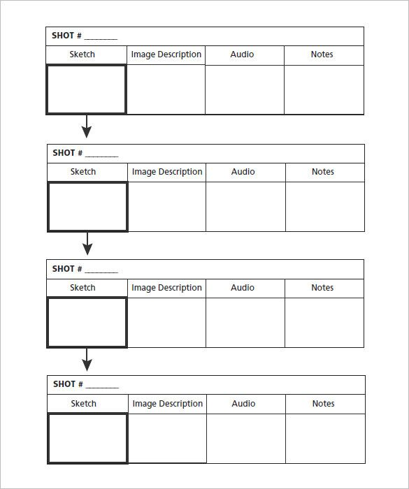 7+ Commercial Storyboard Templates u2013 Free Word, PDF Format - notes template word