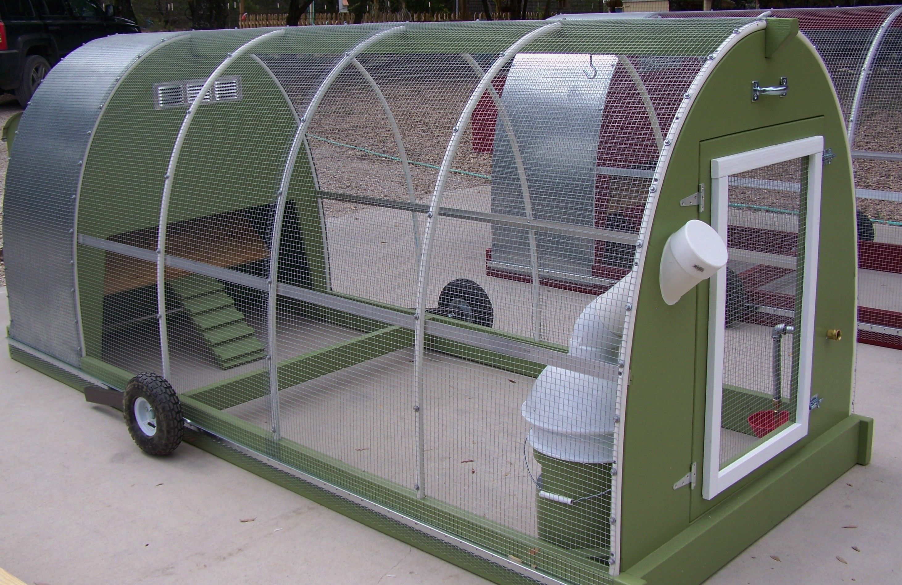 Mobile chicken coop free range chickens with peace of for Diy movable chicken coop