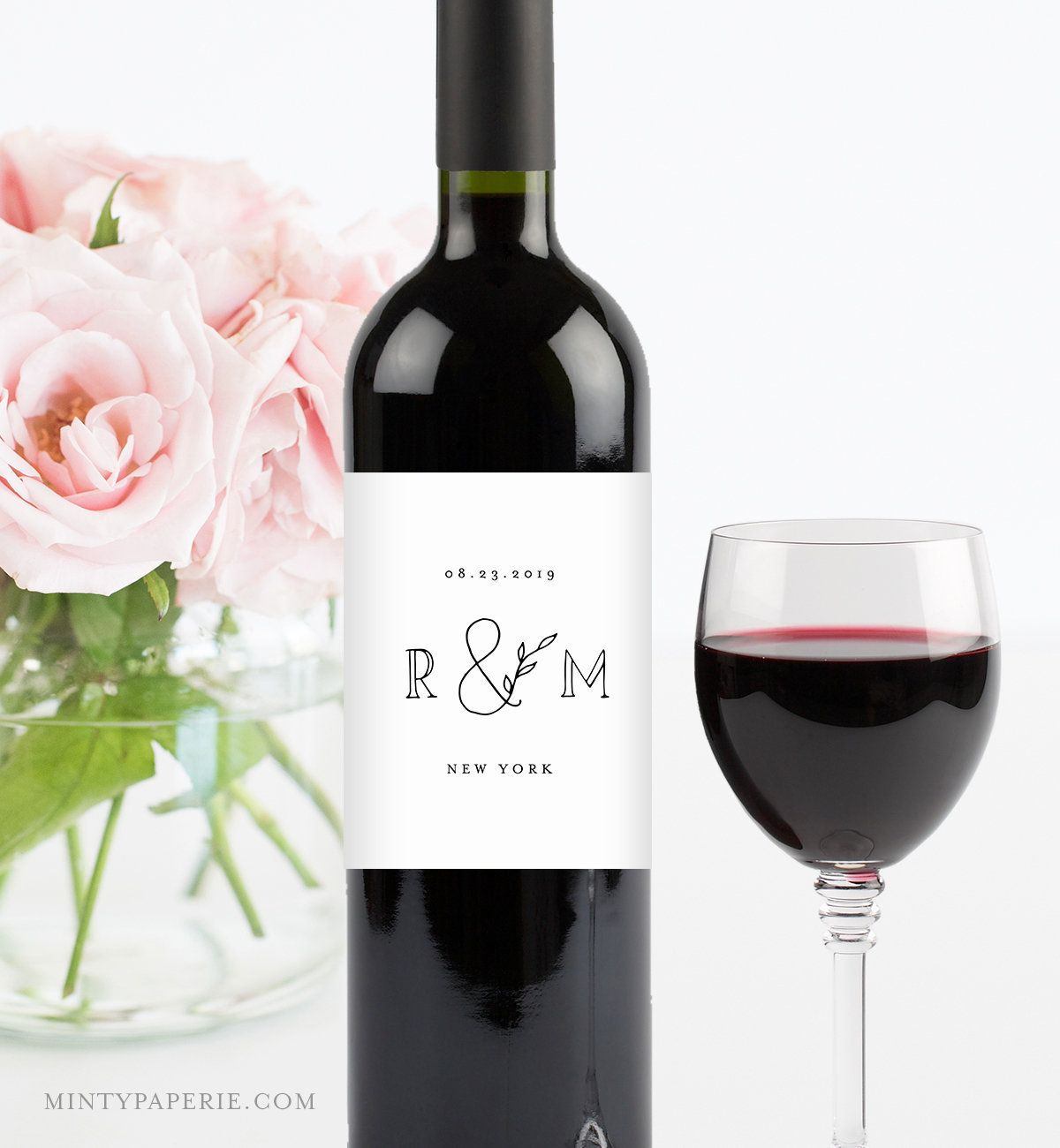 Self Editing Wine Label Template Instant Download 100 Editable