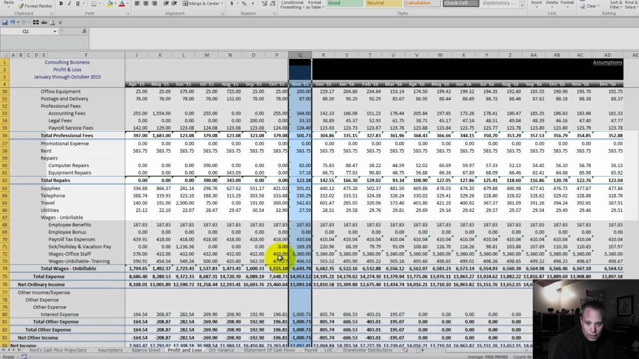 Cash Flow Analysis Nerds Cash Flow Projections For Small