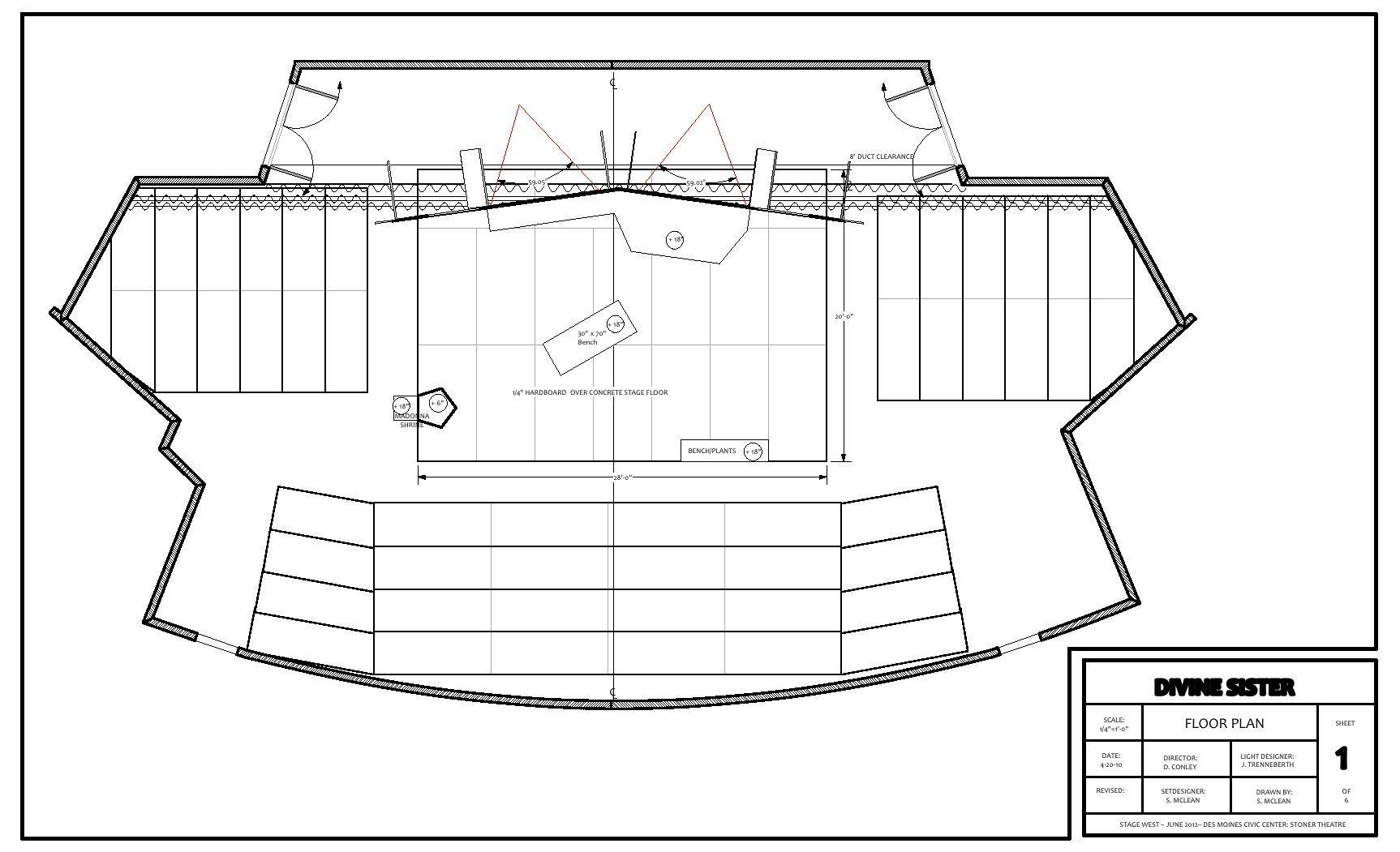 A Set Design For The Divine Sister Set Design Design Sisters