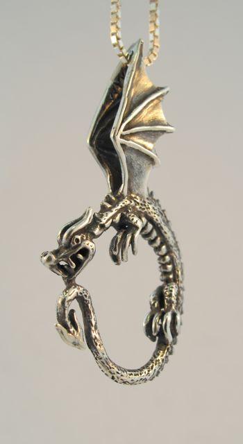7f53ff02c Oracle Dragon Pendant - Silver | zach's likes | Dragon pendant ...