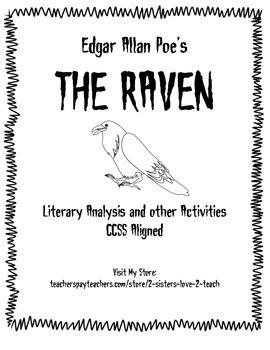 The Raven By Edgar Allan Poe Poem Analysis Activity Stanza