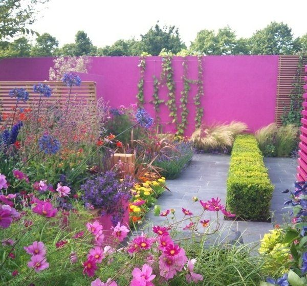 95 id es pour la cl ture de jardin palissade mur et brise vue cl tures peintes lierre. Black Bedroom Furniture Sets. Home Design Ideas