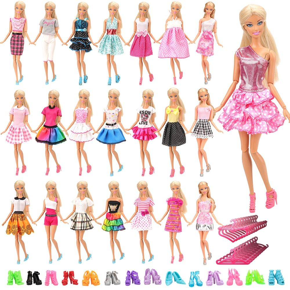 new 30 PCS  10 Clothes 10  P Shoes 10 hangers for Kelly Dolls clothes