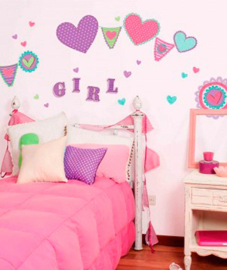 Corazones teen vinilo adhesivo decoraci n de paredes - Decoracion paredes vinilos adhesivos ...