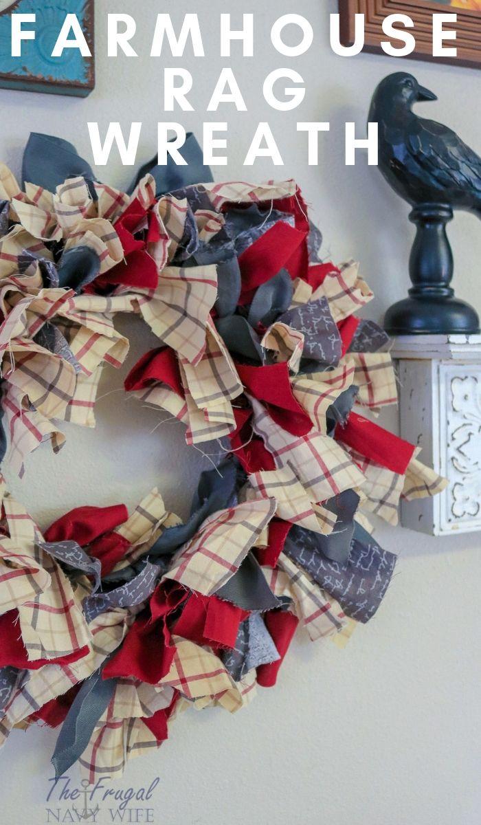 Photo of Farmhouse Rag Wreath DIY
