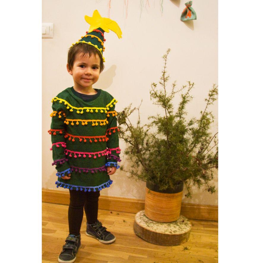 Disfraz Arbol Navidad Diy Disfraz Casero Para Niño Costume Christmas T árboles De Navidad Para Niños Disfraz De árbol De Navidad Disfraces Caseros Para Niños