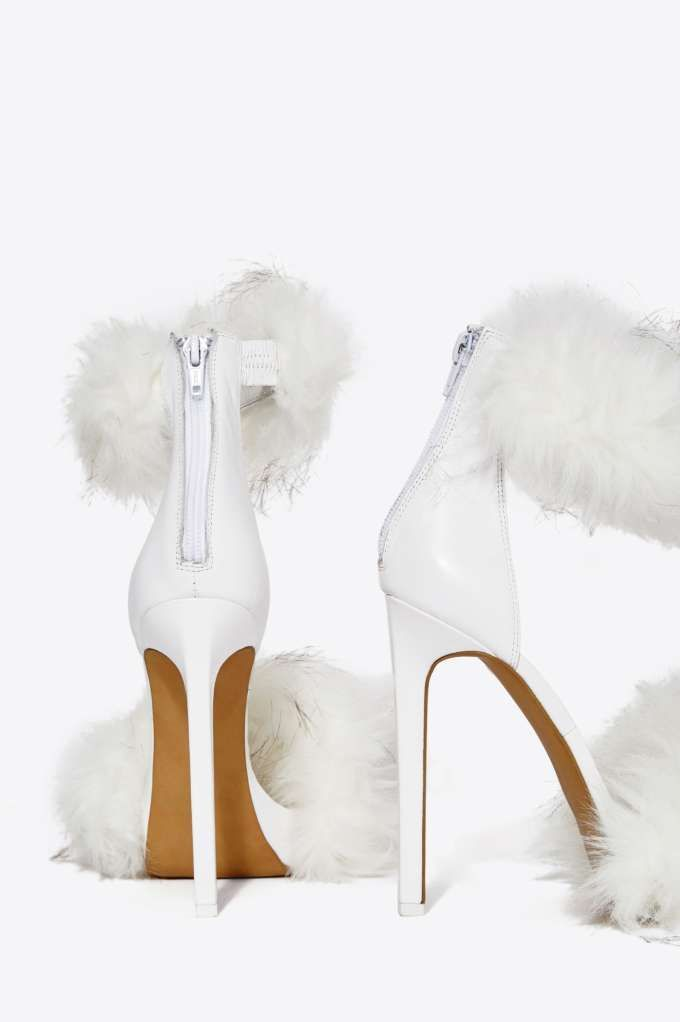 Jeffrey Campbell Cookie Faux Fur Heel - Sale: 60% Off and Up ...