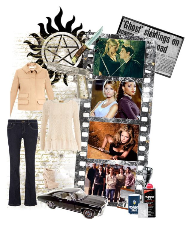 """""""#26. If you were a Hunter: I would be like Buffy - Supernatural"""" by fashionqueen76 ❤ liked on Polyvore featuring Dorothy Perkins, Gianmarco Lorenzi, Chloé, Maglite and Zippo"""