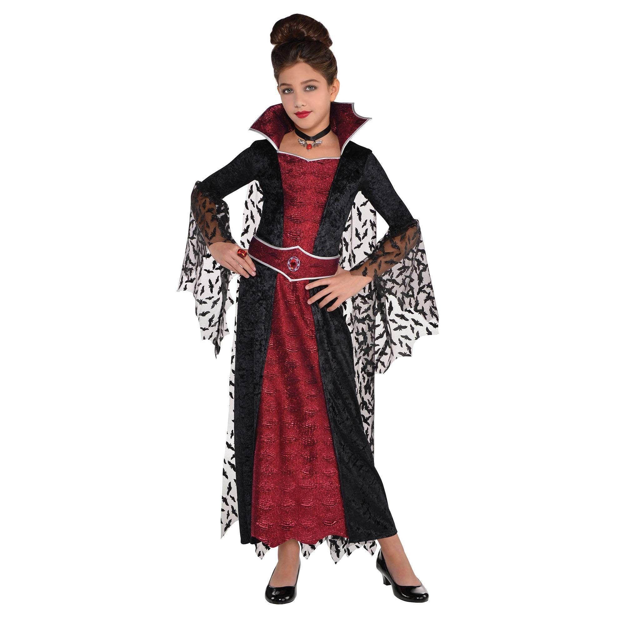 Girls' Coffin Queen Deluxe Halloween Costume M Girls