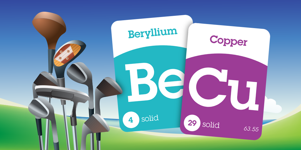 Beryllium copper becu is an alloy used to make golf club heads a colorful periodic table of elements app for ipad that will help you learn every elements location classification symbol spelling and pronunciation urtaz Image collections