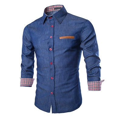Fashion Mens Luxury Business Stylish Slim Fit Long Sleeve Casual Dress Shirt L https://t.co/HhatOWfqyI https://t.co/TsWaNOiCbc