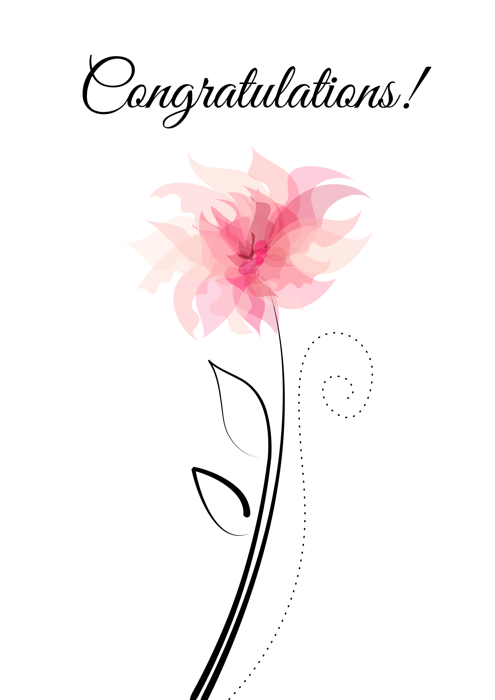 Congratulations Greeting Card Congrats Pinterest