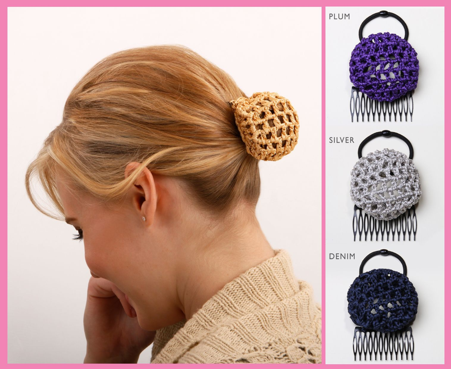 3 New Colors! #Hair #Bun #HairStyle http://www.ponybun.com/blogs/blog/11729453-3-new-ponybun-colors-your-hair-in-a-bun-in-seconds-no-bobby-pins