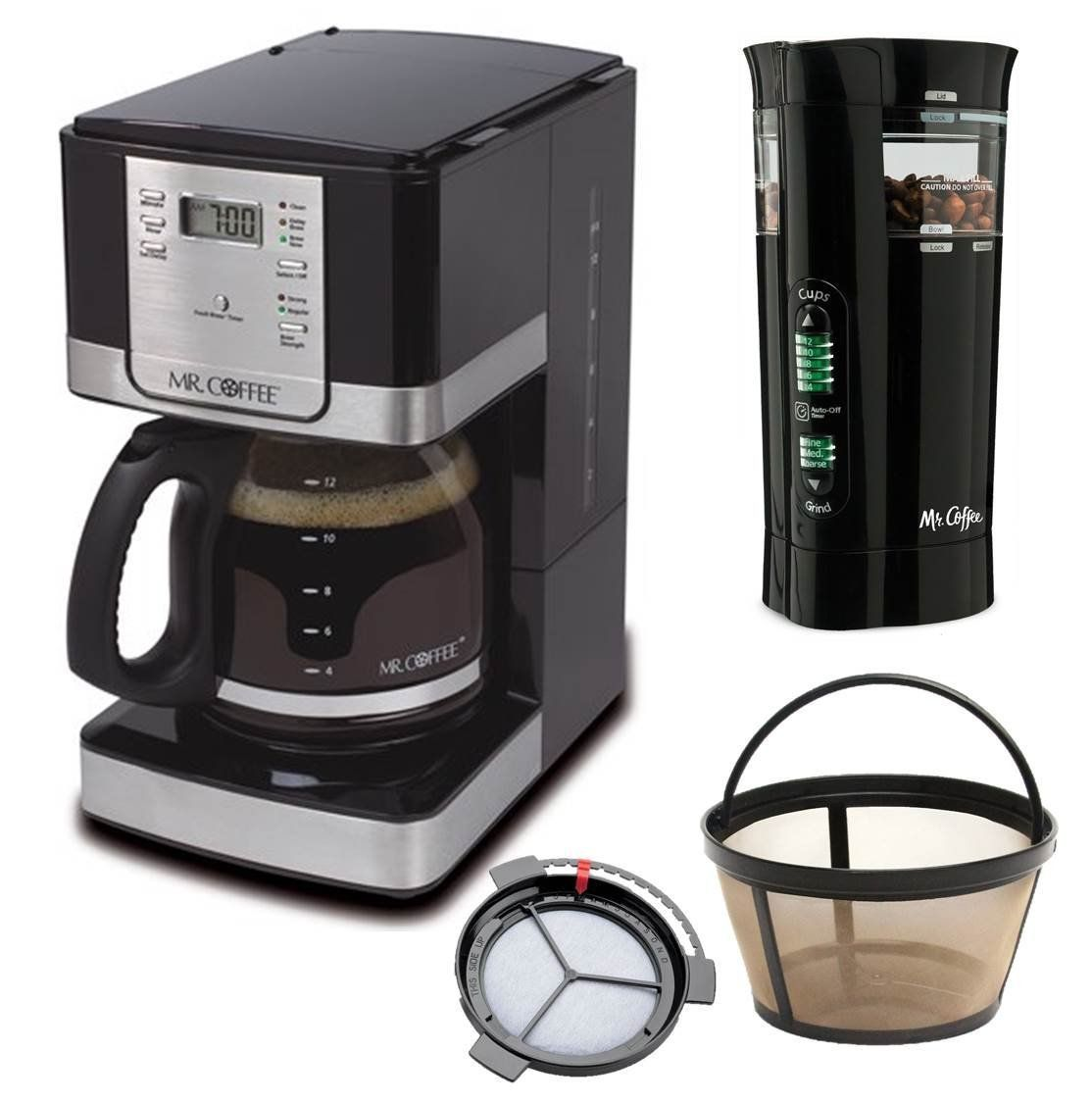 Mr coffee cup programmable coffee maker coffee grinders