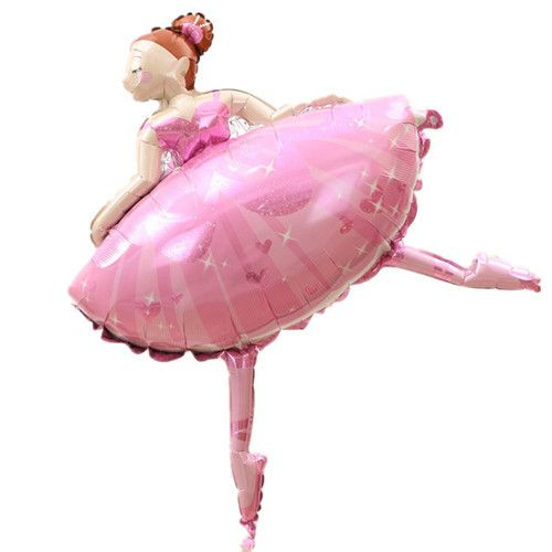 Large Size Party balloons Ballet Dancing Girl Foil Balloons Wedding Decoration B