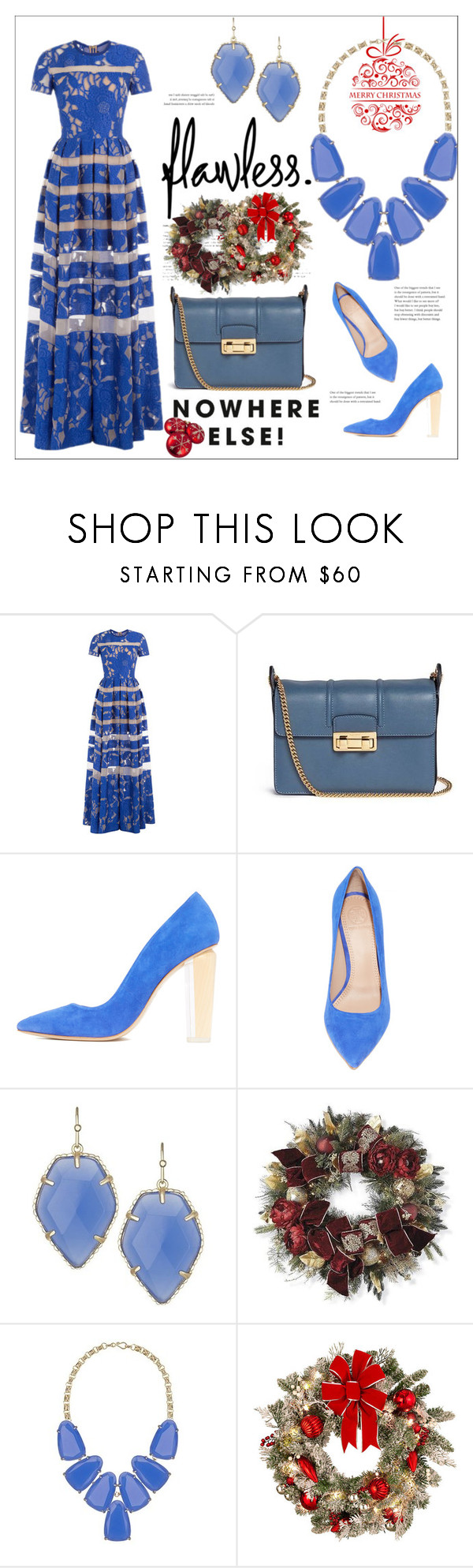 """""""Christmas Gift Guide"""" by bonnielindsay ❤ liked on Polyvore featuring Elie Saab, Lanvin, Kendra Scott, Frontgate and Improvements"""