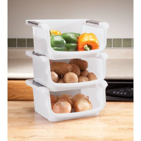 Stackable Vegetable Bins Set Of 3 Image 2