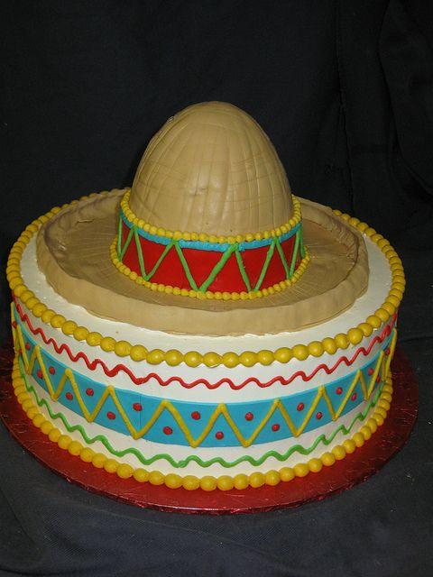 Sombrero Cake Cinco De Mayo Seve S B Day Fiesta Cake