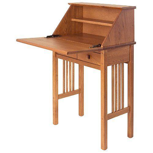 Manchester Wood Mission Secretary Desk Golden Oak