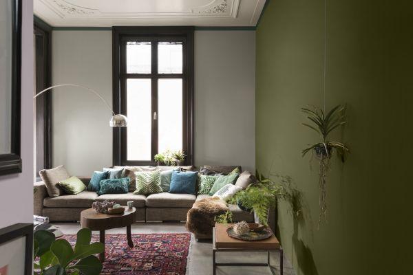 Kleurtrend new romanticism in de woonkamer verf
