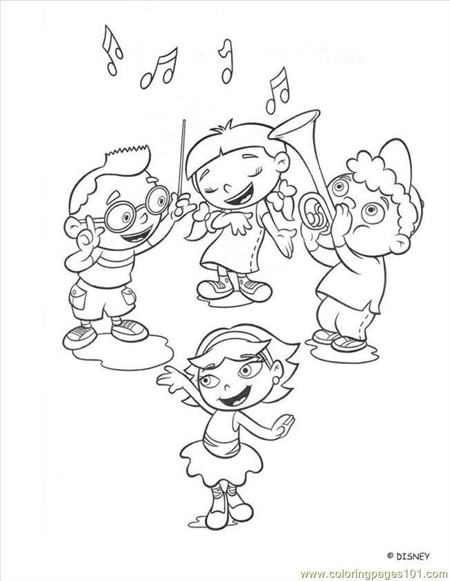 Little Einstein 8 Coloring Page Free Printable Coloring Pages Music Coloring Bear Coloring Pages Little Einsteins
