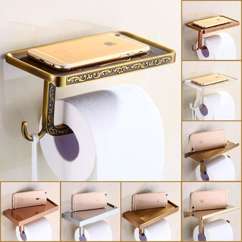 multi-choices Luxury Toilet Paper Holder Wall Mount Bathroom Kitchen