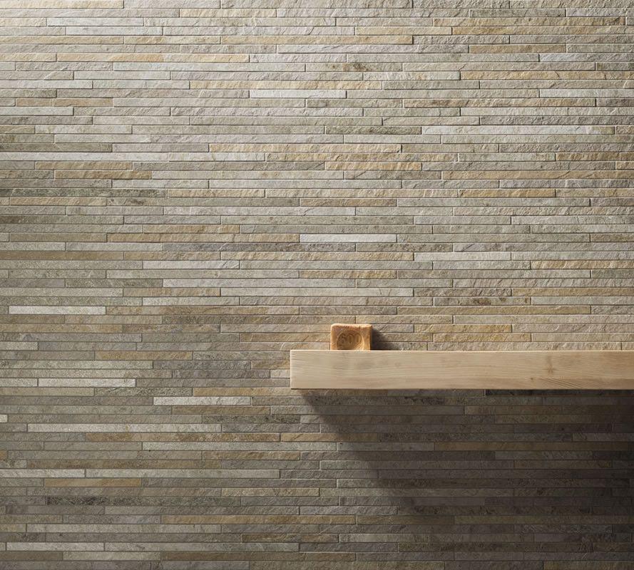 Kronos #Rocks Silver White Strip 15x60 cm 7450 #Feinsteinzeug - küche fliesen boden