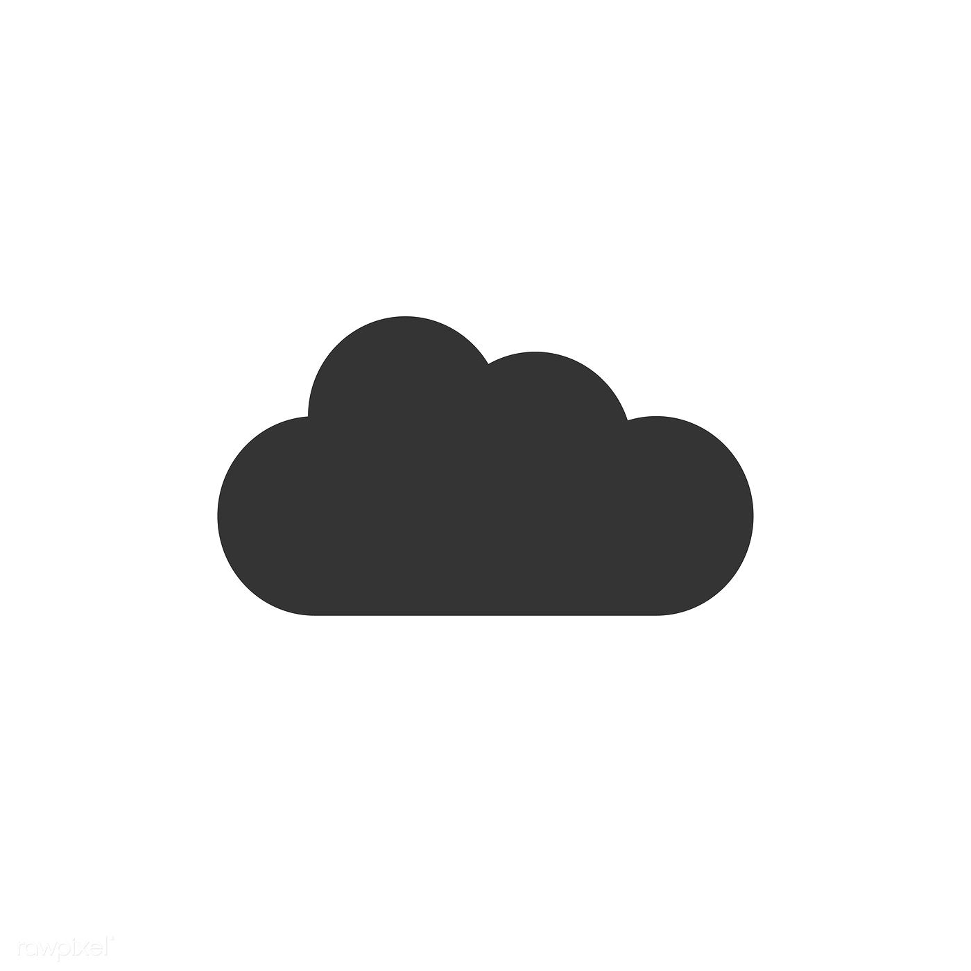 Cloud Icon Vector Free Image By Rawpixel Com Cloud Icon Vector Free Black And White Clouds