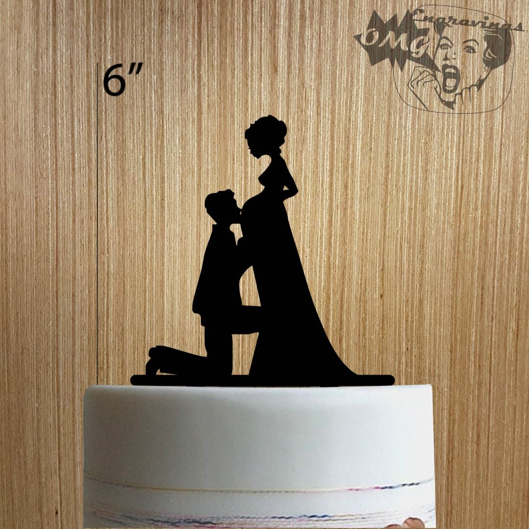 Pregnant Bride 225-210 Cake Topper | Party For Two Please ...