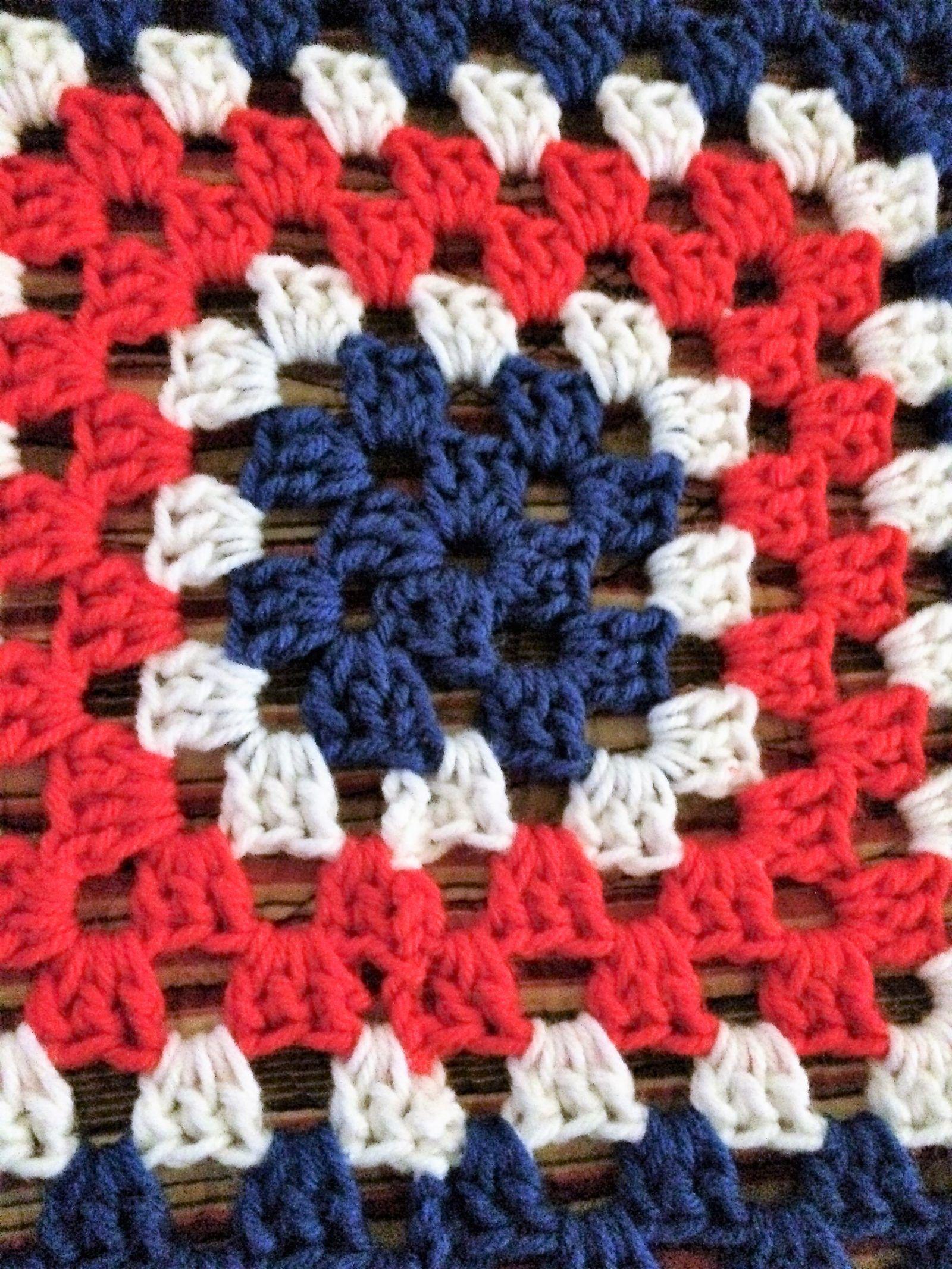 American Pride Granny Square Blanket | Pinterest