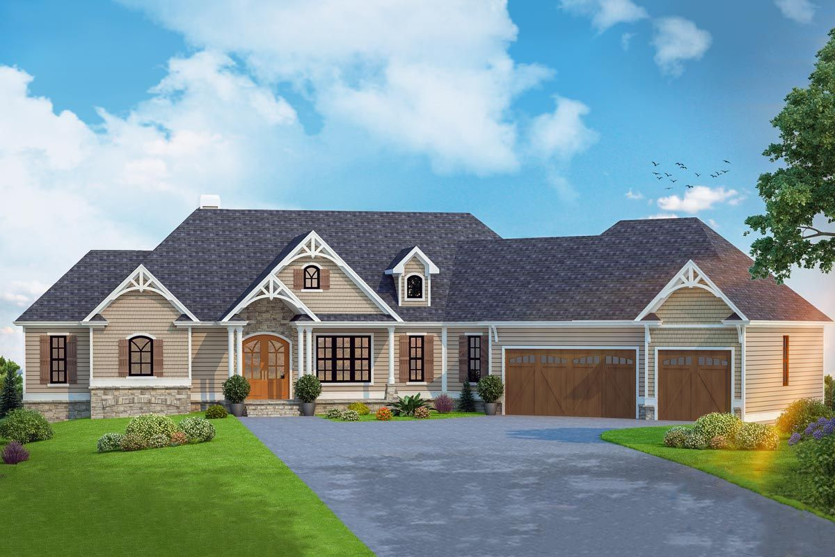 Plan 24392tw One Story Country Craftsman House Plan With Screened Porch Craftsman House Plans Craftsman House Plan Craftsman House