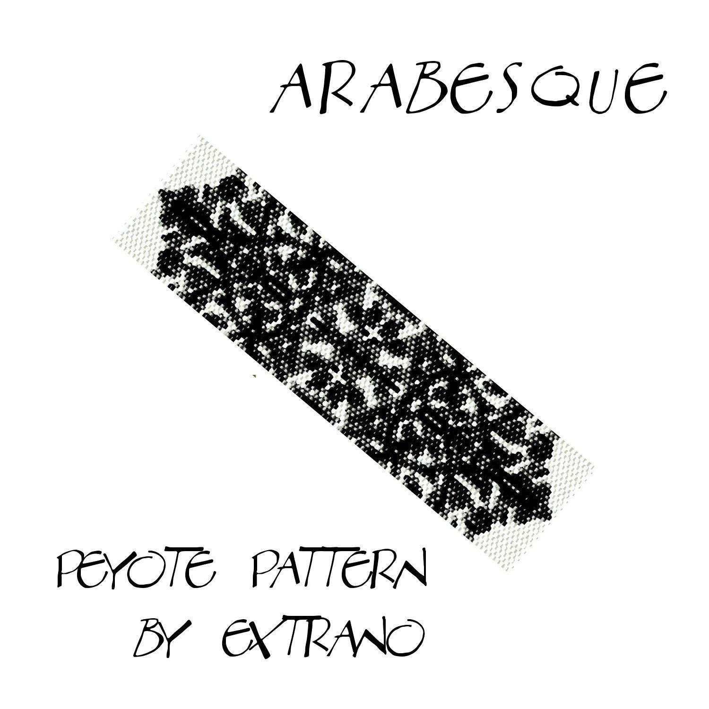 Peyote pattern bracelet, uneven peyote pattern, even