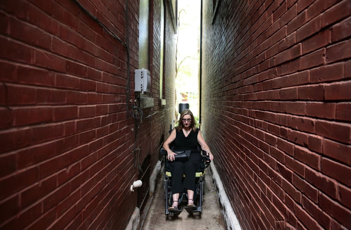 A wheelchair comes out of storage to help disability