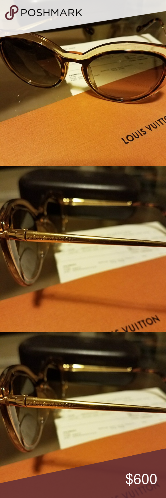 b62da7ec8ac15 Louis Vuitton Willow Dark Tortoise Sunglasses LOUIS VUITTON WILLOW DARK  SUNGLASSES. In excellent condition only used once . Comes with box and  receipt Louis ...