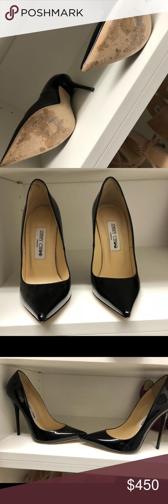 2716056ea5dd Jimmy Choo Anouk pumps black patent Black Patent leather Jimmy Choo Anouk  pumps Great condition Size 38 Jimmy Choo Shoes Heels