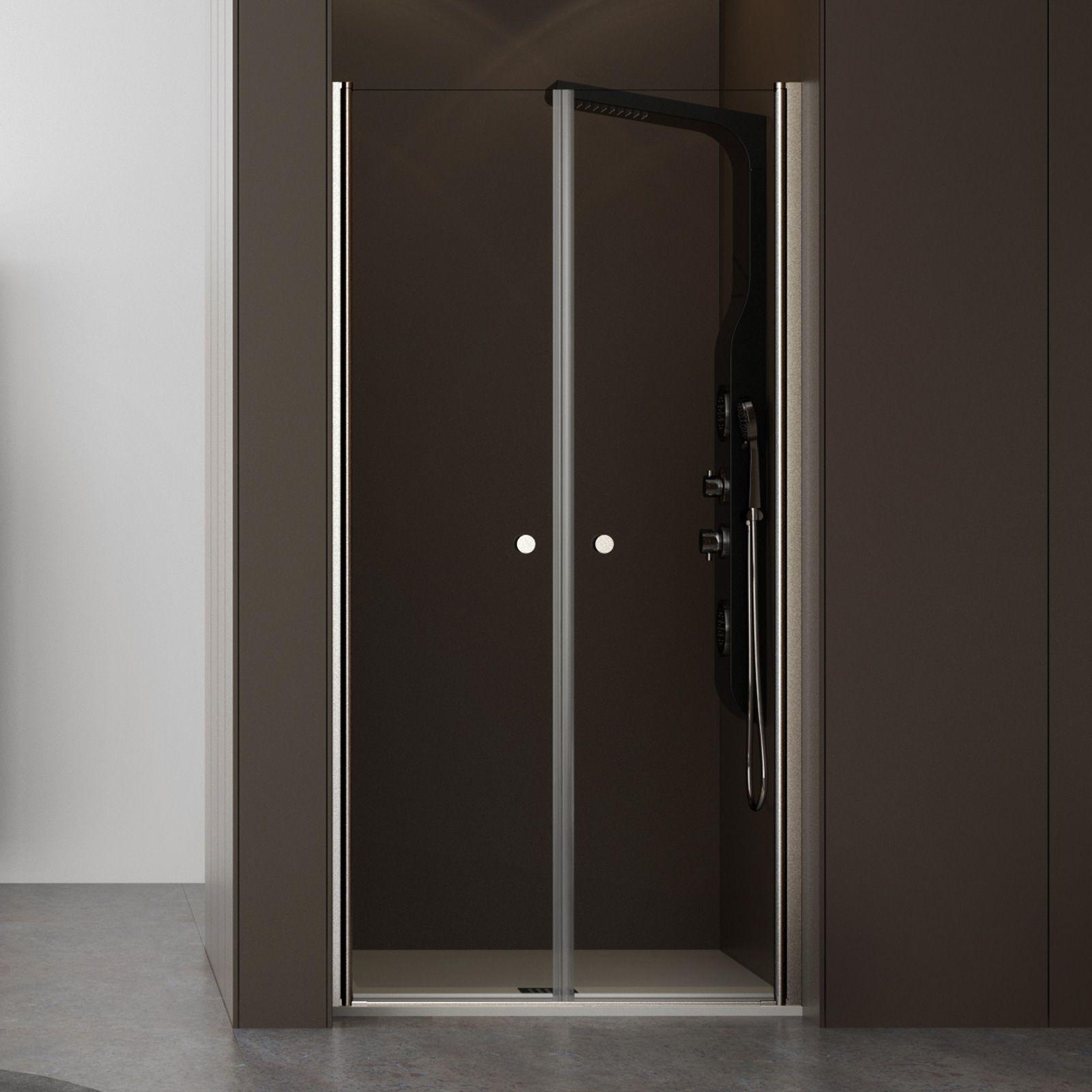 Nicchia doccia saloon 70 cm cristallo trasparente altezza