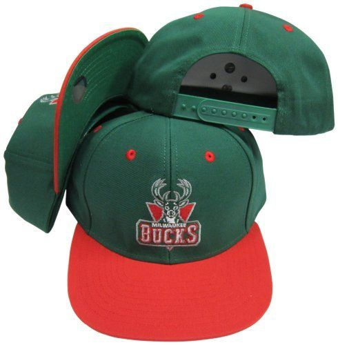Milwaukee Bucks Green Red Two Tone Plastic Snapback Adjustable Plastic Snap  Back Hat   Cap by adidas.  8.99. 100% cotton. Embroidered graphics on hat. 6dd57e3594ec