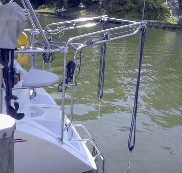 Davits Rails Lifts And Platforms Boat Restoration Sailboat Living Boat Projects