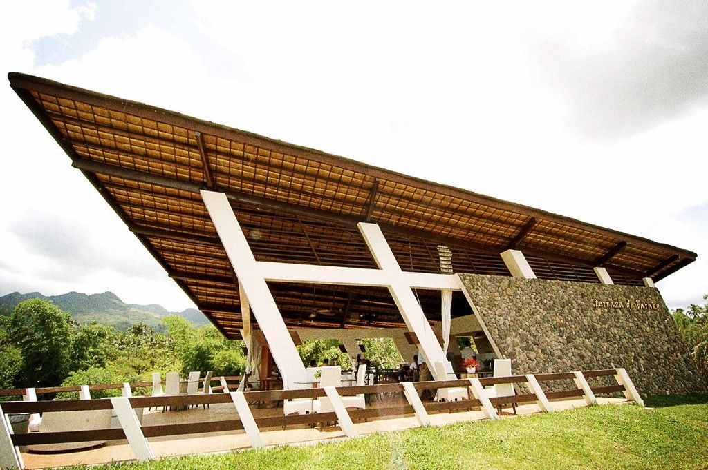 Conceived as a simple terrace where visitors can for Terrace roof design philippines